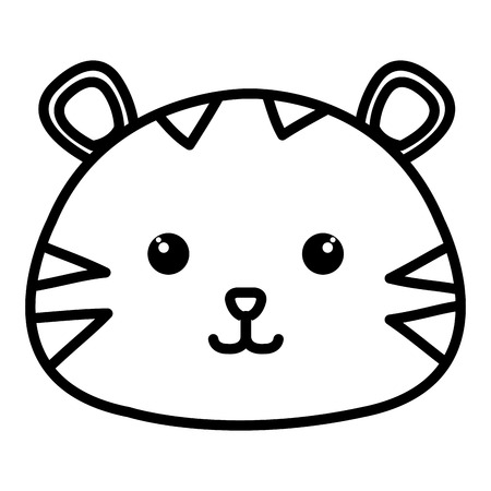 Stuffed animal tiger icon vector illustration design image Stock fotó - 80837998