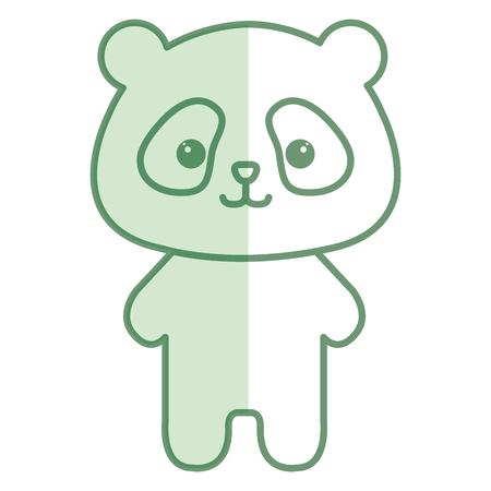 funny pictures: Stuffed animal panda icon vector illustration design shadow