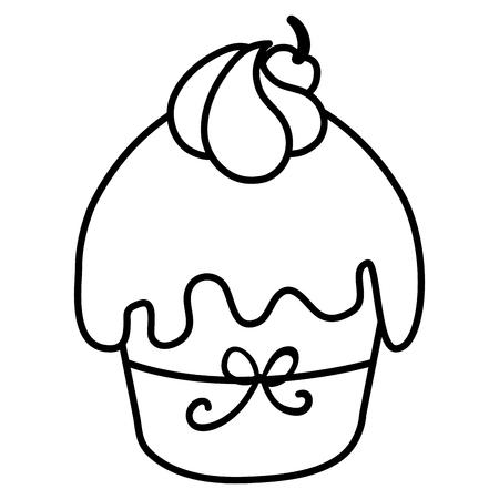 Van het het voedselpictogram van de cakepartij het beeld vectorillustratie