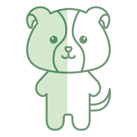 박제 동물 강아지 아이콘 벡터 일러스트 디자인 그림자