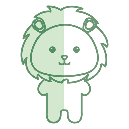 박제 동물 사자 아이콘 벡터 일러스트 디자인 그림자 일러스트