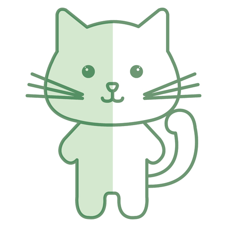 Stuffed animal cat icon vector illustration design shadow