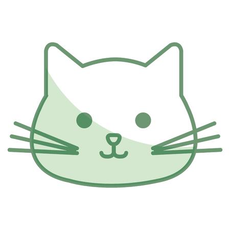 박제 동물 고양이 아이콘 벡터 일러스트 디자인 그림자