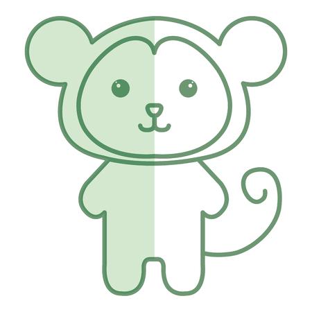 박제 동물 원숭이 아이콘 벡터 illsutration 디자인 그림자
