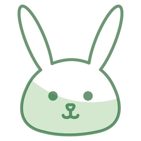 Stuffed animal rabbit icon vector illustration design shadow