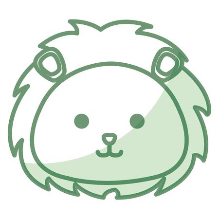 ライオンのぬいぐるみの動物アイコン ベクトル イラスト デザイン影