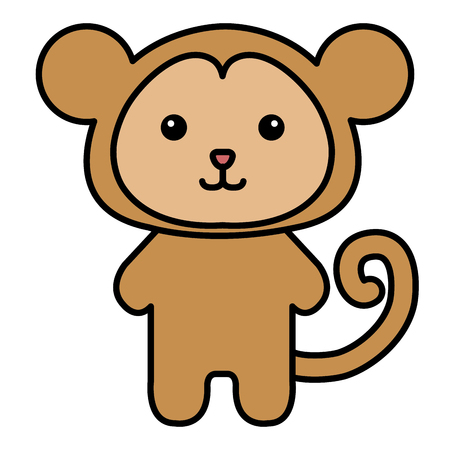 Stuffed animal monkey icon vector illsutration design graphic Ilustração
