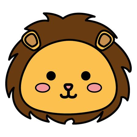 박제 동물 사자 아이콘 벡터 일러스트 디자인 그래픽