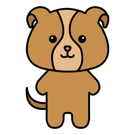 Stuffed animal dog icon vector illustration design graphic