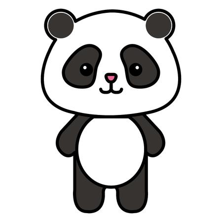 Stuffed animal panda icon vector illustration design graphic Illusztráció