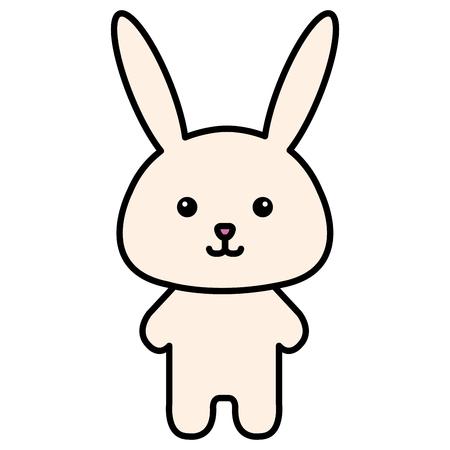 Stuffed animal rabbit icon vector illustration design graphic