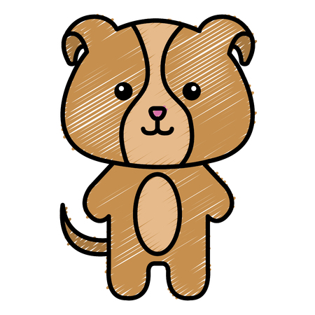 Stuffed animal dog icon vector illustration design doodle Ilustração