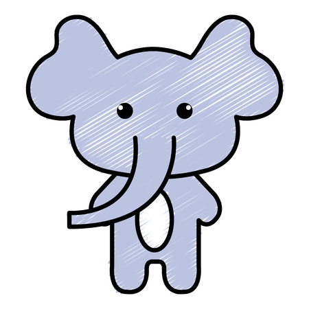 Stuffed animal elephant icon vector illustration design doodle