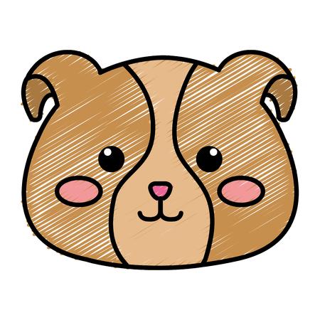 박제 동물 강아지 아이콘 벡터 일러스트 레이 션 디자인 낙서