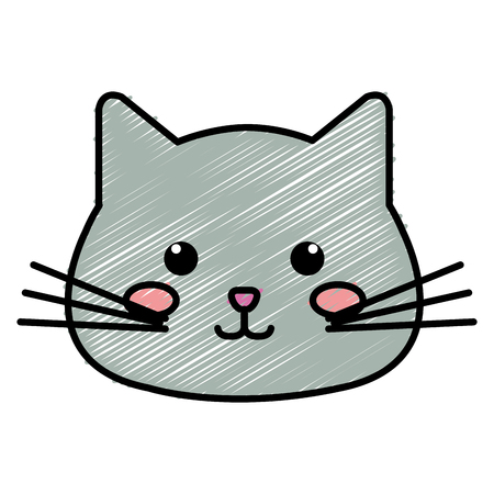 Stuffed animal cat icon vector illustration design doodle Фото со стока - 80839152