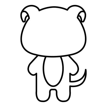 박제 동물 강아지 아이콘 벡터 일러스트 디자인 무승부 일러스트