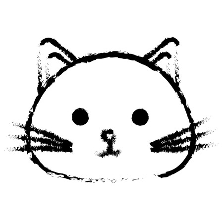 Stuffed animal cat icon vector illustration design draw
