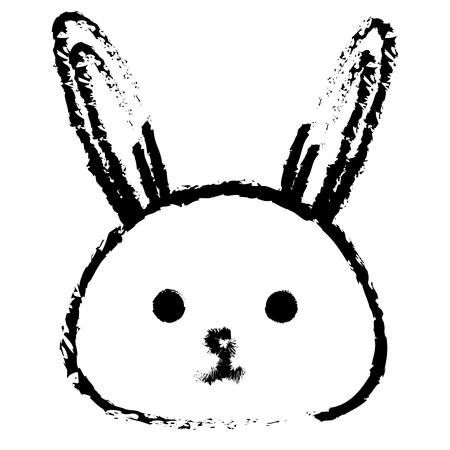 Stuffed animal rabbit icon vector illustration design draw Illustration