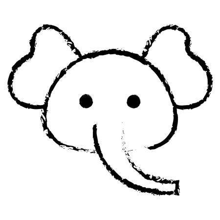 Stuffed animal elephant icon vector illustration design draw