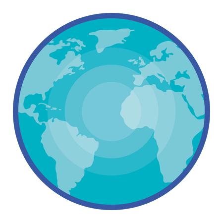 Wonderful planet earth icon vector illustration design graphic Illustration