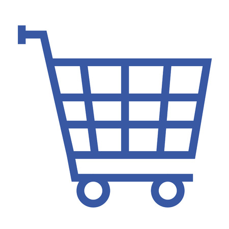 A shopping cart market icon vector illustration design graphic. Illustration