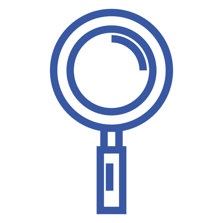 inspect: Research magnifying glass icon vector illustration design graphic Illustration