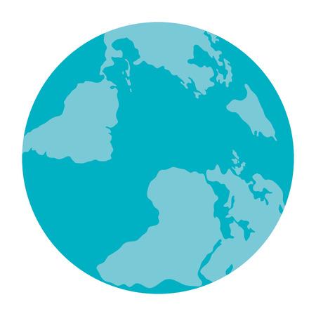 Wonderful planet earth icon vector illustration design graphic Ilustração