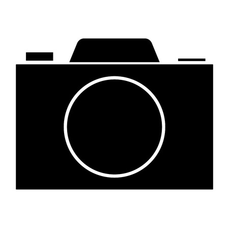 photographing: Digital photography camera icon vector illustration design graphic