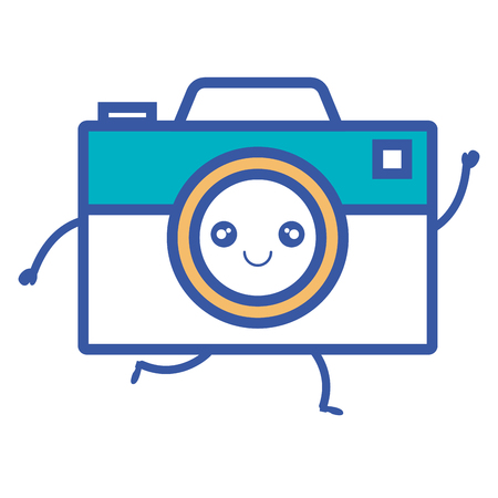 Digitaal de cameraontwerp van het fotografiecamera vectorontwerp grafisch Stock Illustratie
