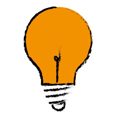 Gloeilamp plaats pictogram vector illustratie ontwerp grafisch