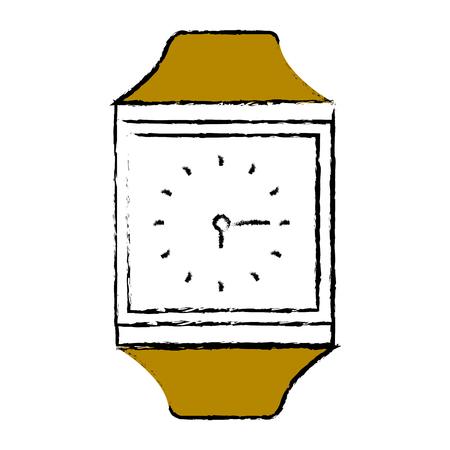 Time clock accessory icon vector illustration design graphic