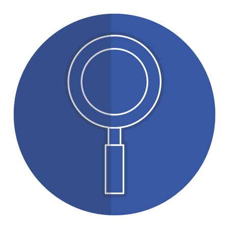 Research magnifying glass icon vector illustration design graphic Illustration