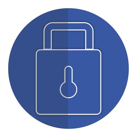 Security lock locked icon vector illustration design graphic