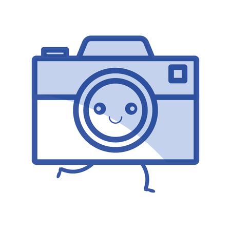 Digitale fotografie camera pictogram vector illustratie ontwerp grafisch