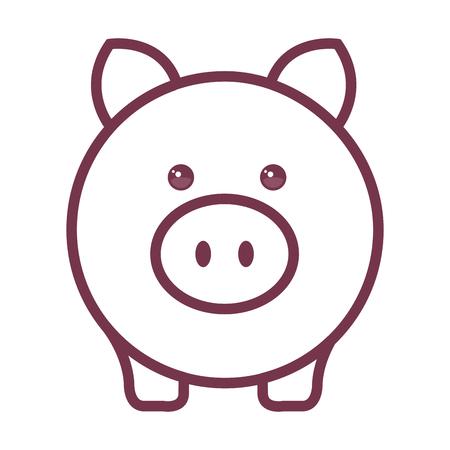 Piggy bank money icon vector illustration design graphic