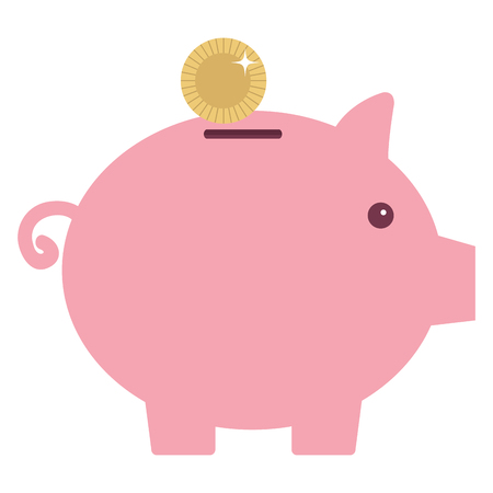 Piggy bank money icon vector illustration design graphic
