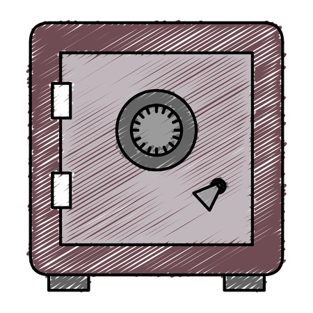 Safe important items icon vector illustration design doodle