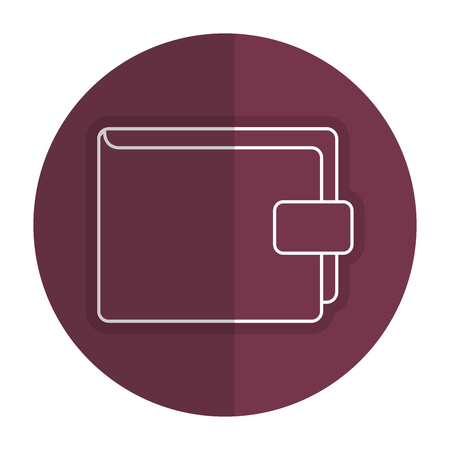 Wallet save documents icon vector illustration design shadow