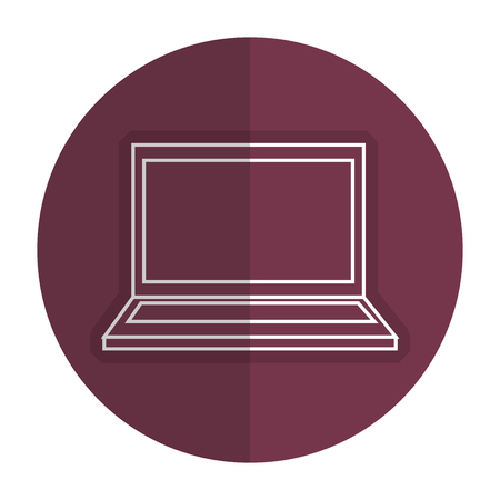 Electronic computer needed icon vector illustration design shadow