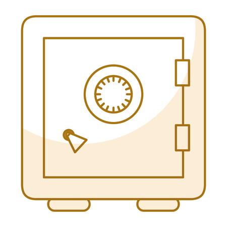 safe important articles icône vecteur illustration graphique de conception