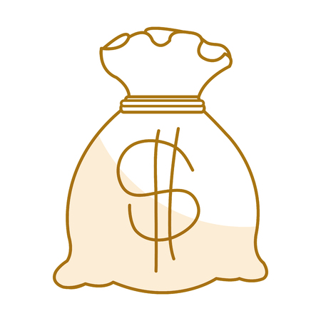 Bank money bag icon vector illustration design graphic