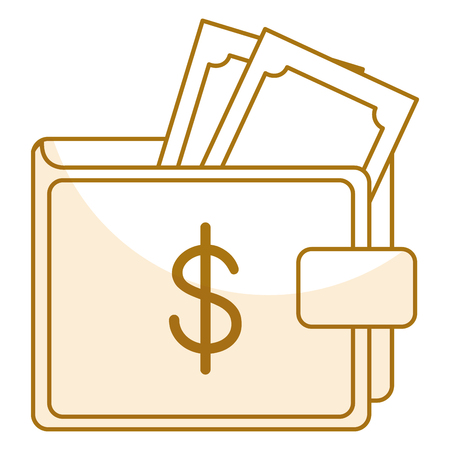 savings account: Wallet save documents icon vector illustration design graphic Illustration