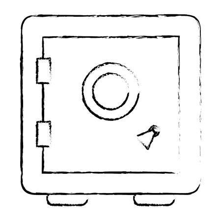 Safe important items icon vector illustration design draw