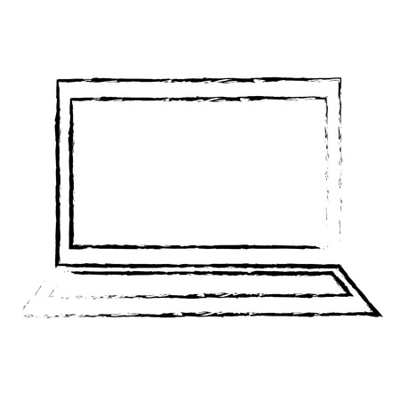 Electronic computer needed icon vector illustration design draw
