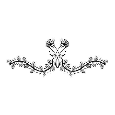 naturals flores tatuajes icono ilustración vectorial diseño gráfico