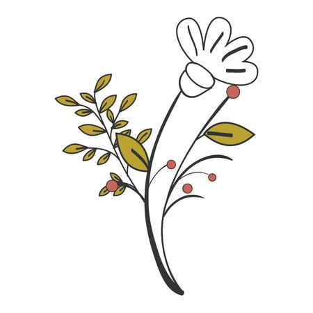 원주민 꽃 문신 아이콘 벡터 일러스트 디자인 그래픽 일러스트