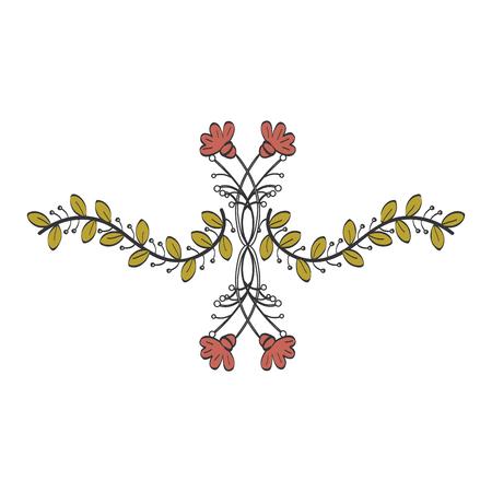 Fleurs naturelles tatouages ??icône illustration vectorielle design graphique Banque d'images - 80861694