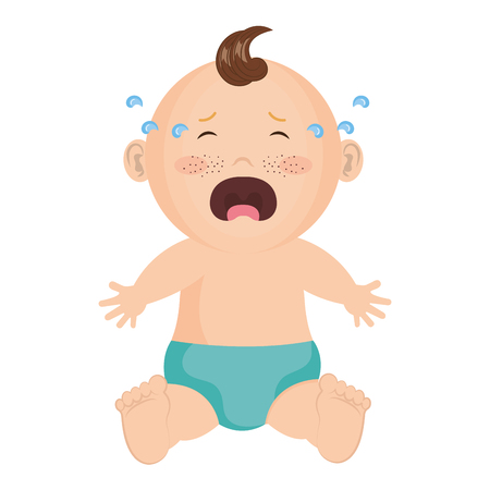 baby: Baby clothes crying icon vector illustration design graphic