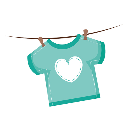 A beautiful baby shirt icon vector illustration design graphic