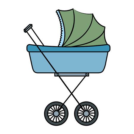 Gráfico del diseño del ejemplo del vector del icono del pequeño coche del bebé Foto de archivo - 80861751